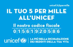 Il tuo 5x1000 ad UNICEF