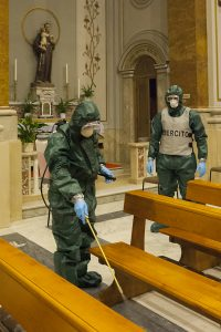 Il 7° Reggimento 'Cremona' sanifica la Cattedrale