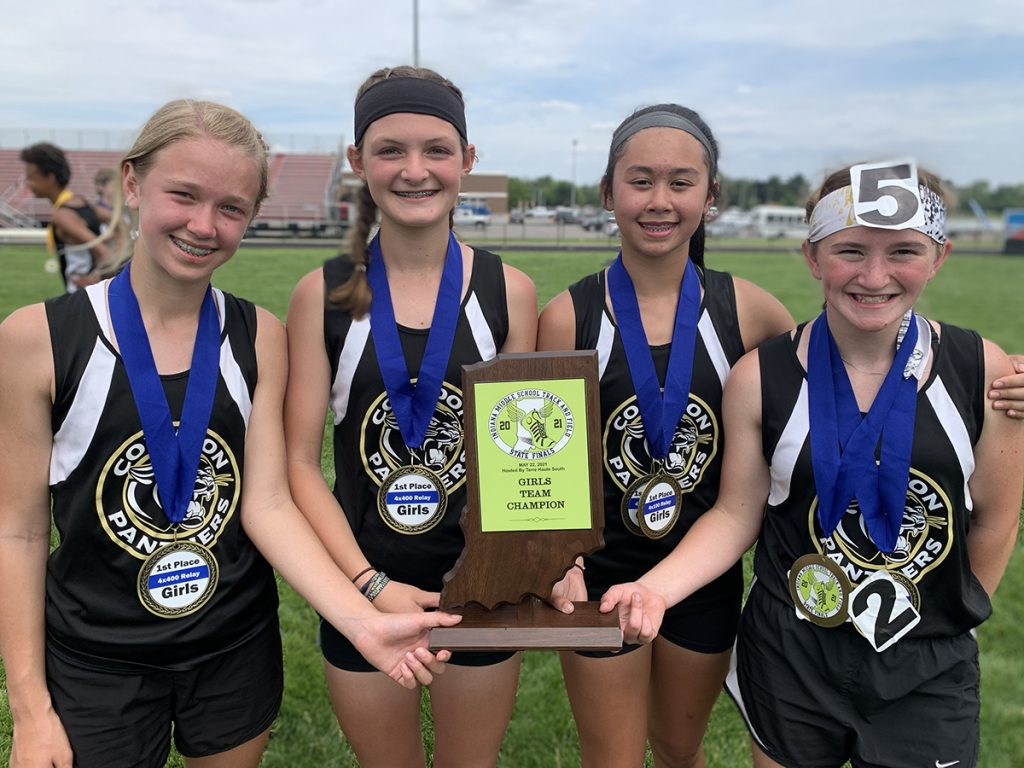 CCJHS wins girls' state track and field