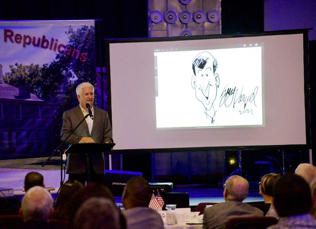 Cartoonist draws vivid picture of politics, culture at GOP dinner
