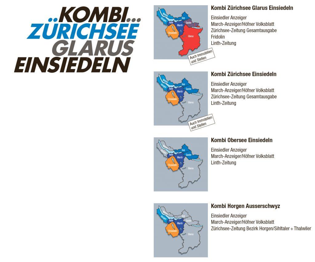 Powerkombi Zürichsee, Glarus, Einsiedeln