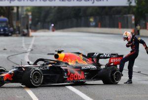 Sergio Perez wins after Verstappen crashes in Azerbaijan