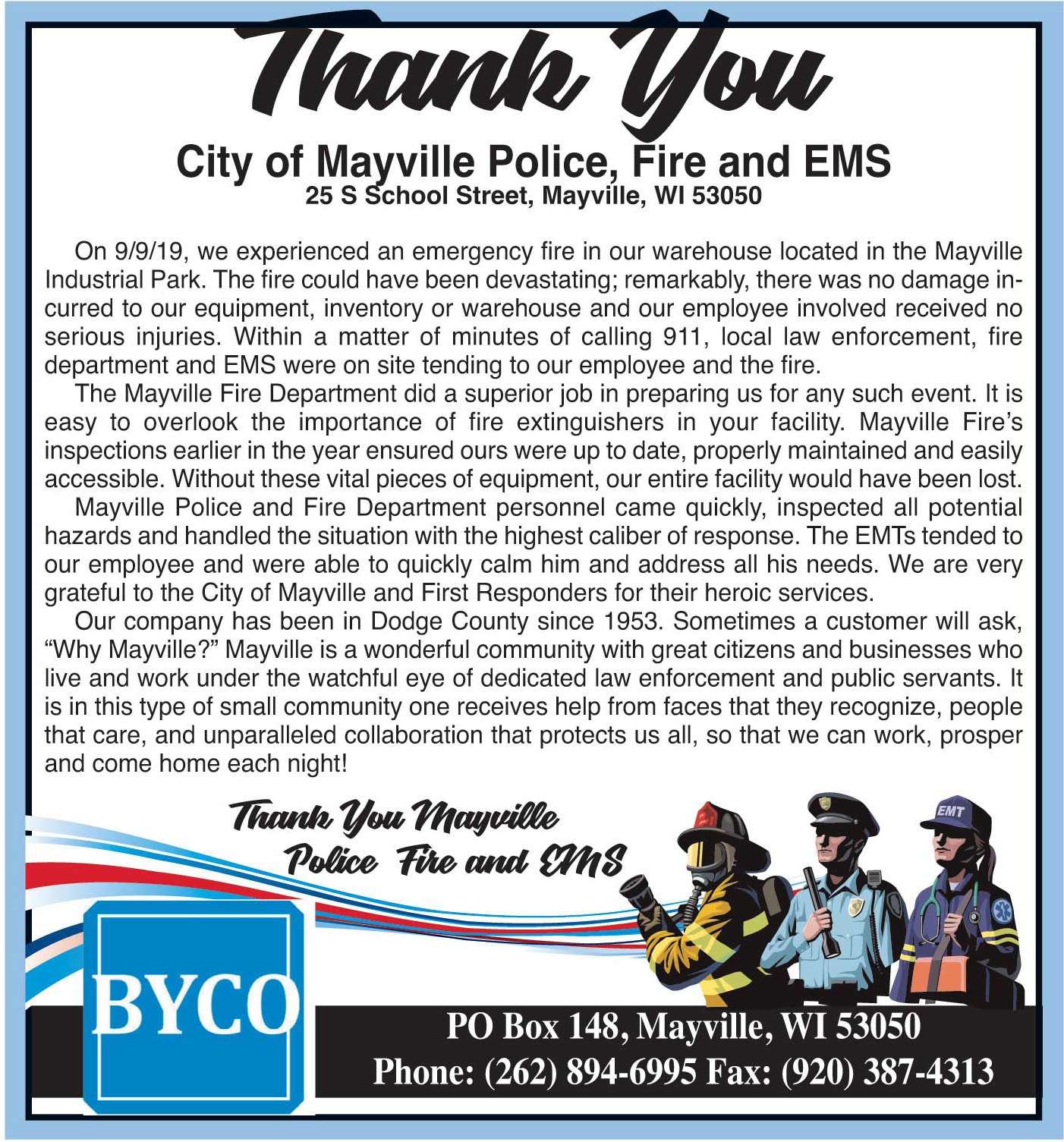 Byco Thank you