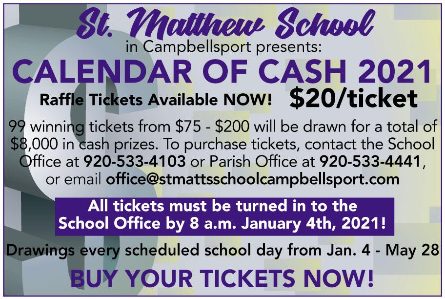 St Matts Calendar of Cash