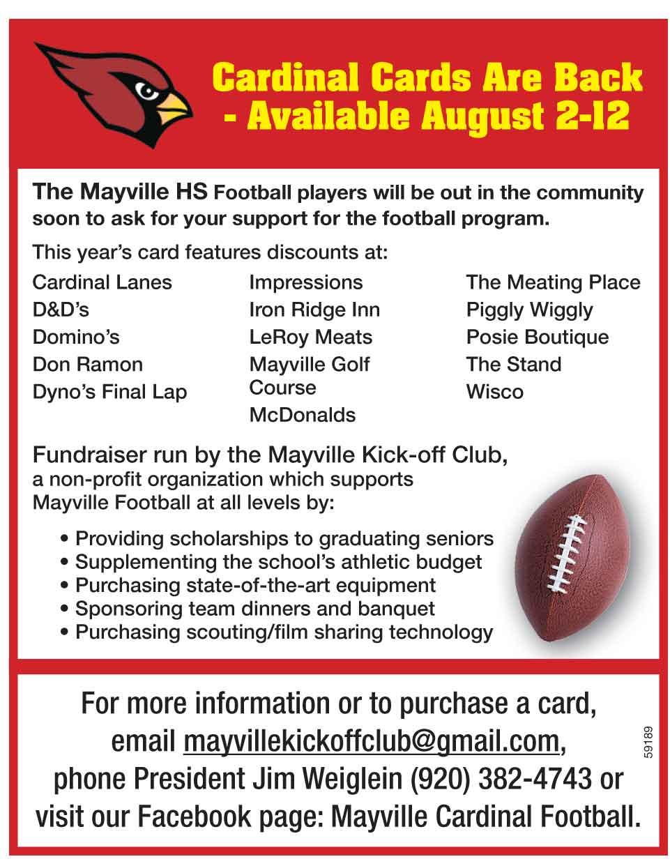 Mayville Cardinal Football